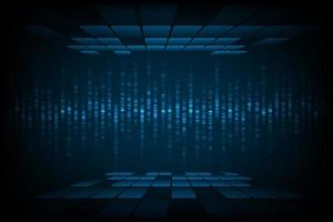 tecnologia immagine d'onda sonora con tessere in alto e in basso