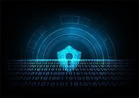 Scudo con icona Keyhole e codice binario davanti