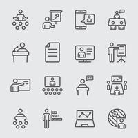 Icona della linea di presentazione aziendale