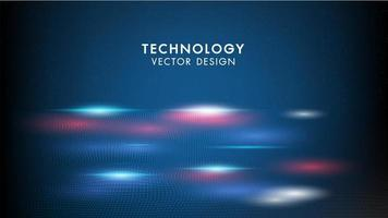 Onde geometriche del fondo astratto di tecnologia vettore