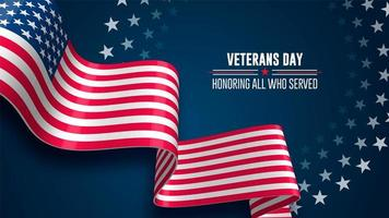 Veterans Day Flag Background
