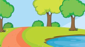 Un paesaggio naturale semplice