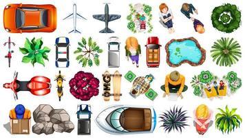 Insieme di diversi elementi di vista aerea