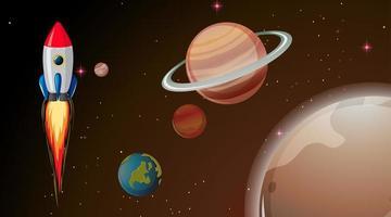 Razzo nello spazio