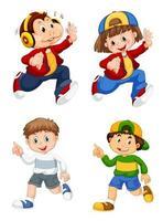 Set da corsa per bambini e scimmie