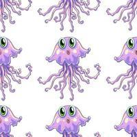 Fumetto senza cuciture delle mattonelle del modello con le meduse
