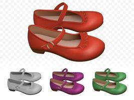 Set di eleganti scarpe femminili vettore