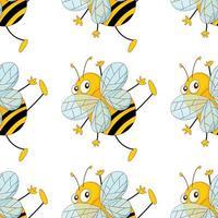Fumetto senza cuciture delle mattonelle del modello con le api