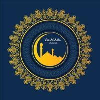 Pellegrinaggio islamico per i saluti di Eid-Al-Adha vettore