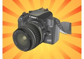 Fotocamera DSLR vettore