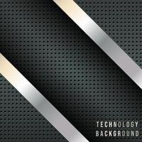 Strisce diagonali metalliche, fondale di design tecnico vettore