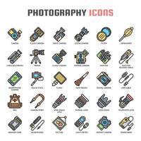 Icone di fotografia linea sottile