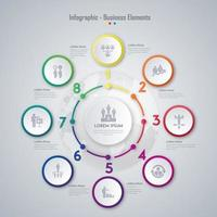 Progettazione di elementi di business infografica