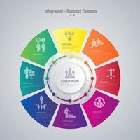 Progettazione dell'elemento di Infographic di affari di ColorFul Vector