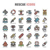 Salva icone sottili vettore