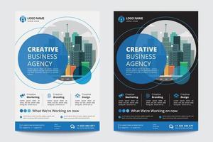 Modello di agenzia creativa di affari vettore
