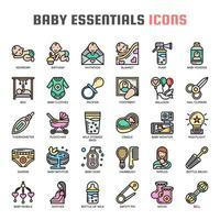 Icone di linea sottile bambino Essentials