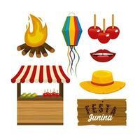 impostare la decorazione degli accessori per la festa Junini alla celebrazione