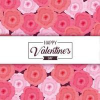 decorazione floreale per felice giorno di San Valentino vettore