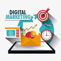 Progettazione di marketing digitale vettore