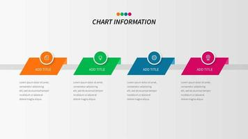 Infografica in quattro passaggi colorato con icone