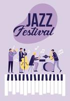 Poster del festival jazz vettore