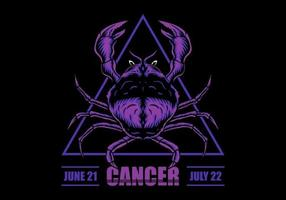Segno zodiacale Cancro vettore