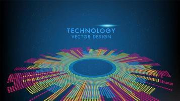 Tecnologia e scienza grafica colorata vettore