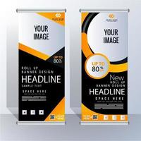 Verticale Roll Up Banner Business moderno vettore