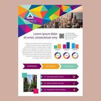 Modello dell'opuscolo di affari poligono basso luminoso colorato