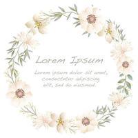 Cornice fiore dell'acquerello con lo spazio del testo.