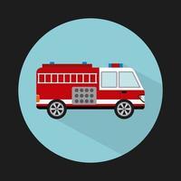progettazione camion dei pompieri vettore
