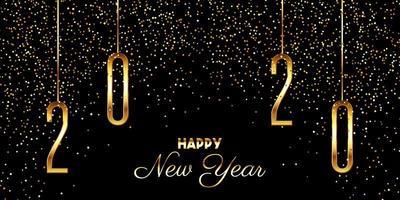 Sfondo di coriandoli di felice anno nuovo