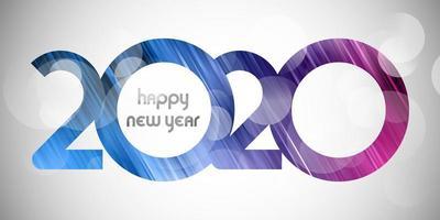 Banner di felice anno nuovo con design numero tagliato vettore