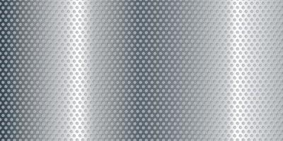 Sfondo perforato metallico argento banner vettore