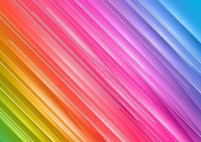 Struttura diagonale astratta dell'arcobaleno