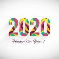 Cartolina d'auguri di felice anno nuovo 2020 vacanze invernali