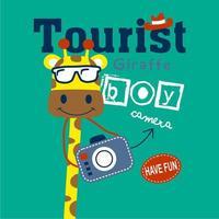 giraffa la guida turistica vettore