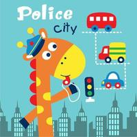 Polizia cittadina della giraffa