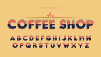 Carattere artistico colorato grassetto vintage sans serif