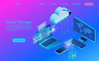tecnologia di cloud storage e concetto di rete