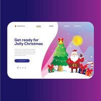 Sfondo pagina di destinazione di Natale