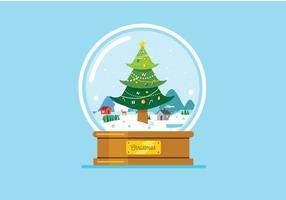 Sfera di cristallo di Natale sullo sfondo