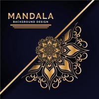 Mandala Background Design di lusso indiano vettore