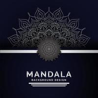 Mandala Background Stile Arabo Colore Argento vettore