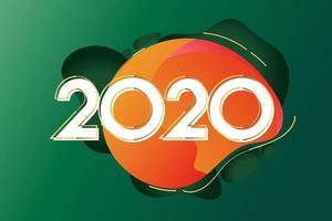 2020 design creativo del nuovo anno