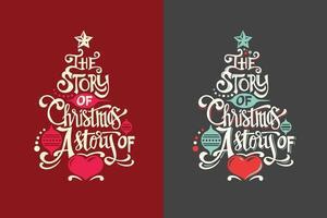 Insieme di citazione dell'albero di Natale