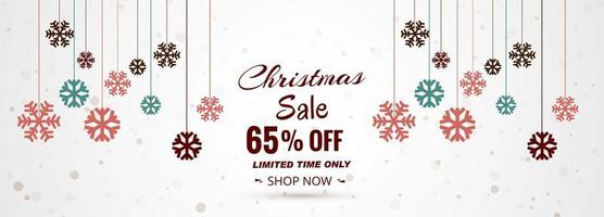 Banner di vendita di buon Natale