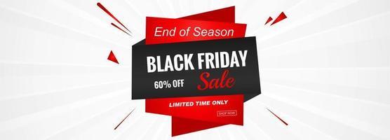 Vettore del modello o dell'insegna di promozione di vendita di Black Friday