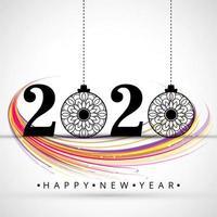 bellissimo sfondo del festival celebrazione del testo del 2020 nuovo anno vettore